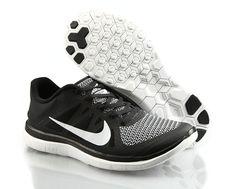 Confort Nike Free 4.0 Blanc Gris En Ligne Noir Chaussures, EUR €66.22