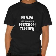 Ninja Preschool Teacher T Shirt, Hoodie Sweatshirt