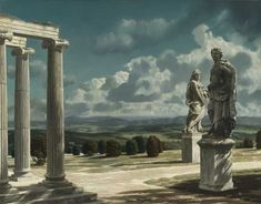 Carel Willink (Dutch, Landscape with ruin, 1947 Oil on canvas, 77 x 65 cm Forms Of Poetry, Magic Realism, Dutch Painters, Collaborative Art, Dutch Artists, Oil On Canvas, Illustration Art, Illustrations, Museum
