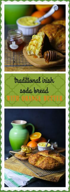 Traditional Irish Soda Bread with Orange Butter - What Should I Make For. patricks day food bread Traditional Irish Soda Bread with Orange Butter Rolled Oats Recipe, Traditional Irish Soda Bread, Wow Recipe, High Protein Vegetarian Recipes, St Patricks Day Food, Bread Appetizers, Oats Recipes, Bread Recipes, Good Food