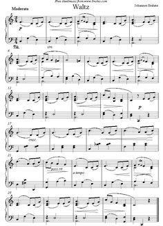 Brahms - Waltz sheet music for Piano #pianolessons