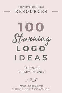 100 stunning logo ideas for your creative business
