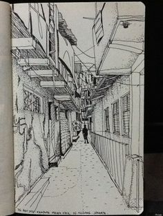 Narrow alleyway in the highly densed urban village of jakarta! Rework . Kampung Melayu Kecil, Tebet, Jakarta, Indonesia. Artist YeeKee Ku. Year 2013