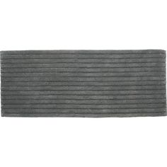 vertical stripe grey bath runner  | CB2 *bath mat - good size - there is white also