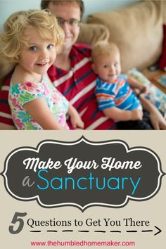 One of my greatest goals as a homemaker is that my home be a sanctuary for my family. I want this to be a place of peace, rest and refuge. I love these practical tips for making my home a peaceful place!