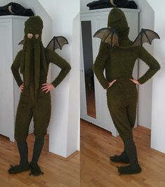 Raumstation Vokuhila Blog, Cthulhu, costume, dress, tentacles, Wings, DIY, Halloween, Lovecraft Tentacle, Cthulhu, Yahoo Images, Wings Diy, Image Search, Plush, Product Launch, Costumes, Blog