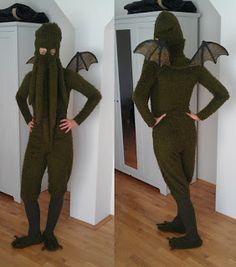 Raumstation Vokuhila Blog, Cthulhu, costume, dress, tentacles, Wings, DIY, Halloween, Lovecraft