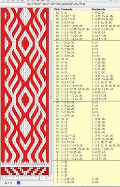 26 tarjetas, 2 colores, repite cada 18 movimientos // sed_275 diseñado en GTT༺❁