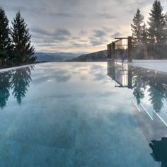 Infinity Pool, Snow, Outdoor, Open Fireplace, Forest House, Luxury, Nature, Tips, Outdoors