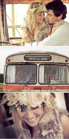 Such a beautiful and bohemian engagement shoot!