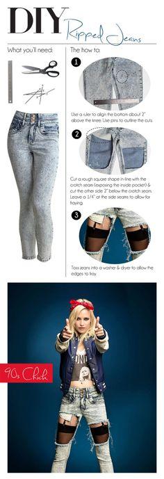 #DIY #RippedJean #TornJean #DIYJeans #Denim #AcidWash #90s #HipHop #UrbanPlanetBlog #UrbanPlanet