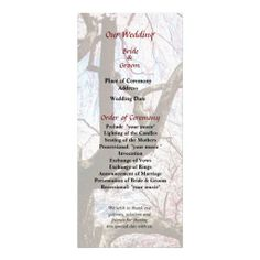 Cherry Tree Closeup Wedding Program -- Spring wedding program that you can customized yourself.  #wedding  #weddingprogram #weddingprograms #gettingmarried #customize #flower #flowers #cherryblossom #cherryblossoms #cherrytree #cherrytrees #spring #pink $0.65 per card   BULK PRICING AVAILABLE!