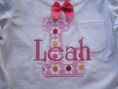 Personalized Monogrammed T-shirt by sewpersonaldesignsga, $20.00