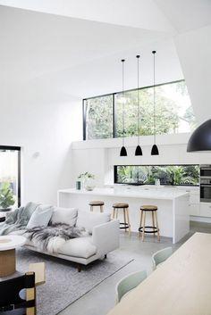 Exciting Modern Minimalist Interior Design That Stunning And Awesome - Modern Interior Design Interior Design Minimalist, Minimalist Furniture, Modern Kitchen Design, Modern House Design, Decor Interior Design, Furniture Design, Modern Minimalist House, Minimal Home Design, Furniture Ideas