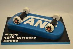 3D Skateboard Cake - Boys - Cake