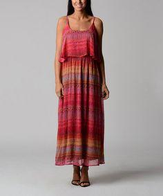 Pink & Orange Stripe Maxi Dress by Christine V #zulily #zulilyfinds