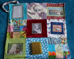 Alzheimier & Memories ~ Sample Memory / Fidget Quilt by TheOwlTreeIreland on Etsy