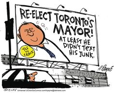 View political cartoons for the day and week featuring the latest trending news in elections, politics, and culture. Conservative satire, humor, and jokes from today's best political cartoonists. Rob Ford, Non Sequitur, Calvin And Hobbes, Political Cartoons, Satire, Comic Strips, At Least, Politics, Humor