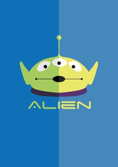 Toy Story Alien- light and dark poster- Copyright of Leanne Parkinson