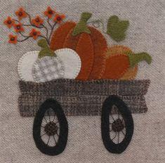 ☰ Menu Pumpkins 'n Bittersweet Wool Applique Quilts, Fall Applique, Wool Applique Patterns, Wool Quilts, Wool Embroidery, Mini Quilts, Quilt Patterns, Pach Aplique, Penny Rug Patterns