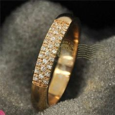 That is cool -  Kyujung Unique baby dia-mond color gold finger wedding rings fashion all-match titanium 18k rose gold jewelry Women pinky ring CTR014