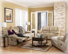 Hogan - Khaki Living Room Set