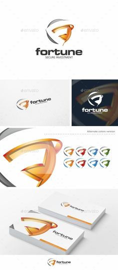 Fortune / F Letter  Logo Template — Vector EPS #app #3d • Available here → https://graphicriver.net/item/fortune-f-letter-logo-template/10111014?ref=pxcr