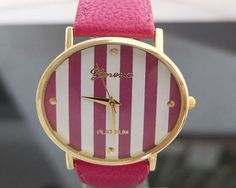 Geneva 25 Color Available New Platinum Brand Stripes Chevron Fashion Leather GENEVA Watch For Ladies Women  No description (Barcode EAN = 0520449281995). http://www.comparestoreprices.co.uk/ladies-watches/geneva-25-color-available-new-platinum-brand-strip
