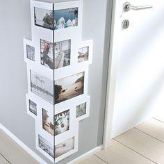Bilderrahmen Collage für Ecken, für 14 Fotos, MDF-Holz, Weiß: Amazon.de: Küche & Haushalt