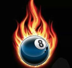 Flaming 8 ball