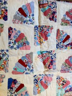 STUNNING vintage 1930s quilt top by ornithopsia on Etsy