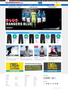 SportsDirect website packs in a bunch of features right from its home page to individual product pages.   We look at what makes their eCommerce store effective from a design and usability perspective in our blog on Our Favourite eCommerce Websites http://www.onestop-webshop.co.uk/blog/favourite-ecommerce-websites/