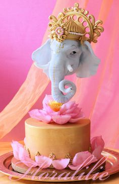 Ganesha Cake for 'Incredible India Cake Collaboration' by Floralilie Elephant Birthday Cakes, Elephant Cakes, Gravity Defying Cake, Gravity Cake, Ganesha, Shree Ganesh, Cupcakes, Cupcake Cakes, Beautiful Cakes