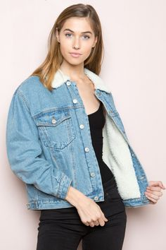 Brandy ♥ Melville |  Shaine Denim Jacket - Clothing
