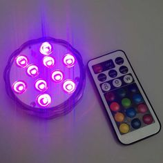 Remote Controlled RGB MultiColor Waterproof Wedding Party Vase Submersible Floral LED Base Light