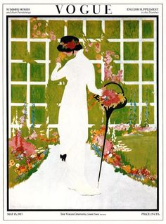 """May 1913 Vintage Vogue Cover Print """"Summer Homes and Their Furnishings"""" 