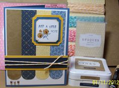 card layout from Denise Anderson-Turley, all CTMH products:  x7148 Pemberley papers, c1494 card word puzzle, desert sand and outdoor denim exclusive CTMH inks, creme brulee marker,  z1333 mocha opaques, creme brulee baker's twine z1702, mixed shapes demensional elements z1683