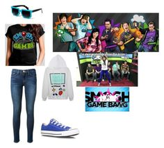 """""""Smosh Games"""" by phoenix1053 ❤ liked on Polyvore featuring Frame Denim and Converse"""