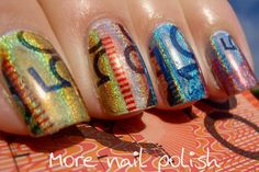 27 fun nail designs to wear on Australia Day, I think the Cashed Up design is amazing!