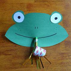 Funny Frog Face {Preschool Craft}