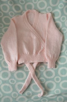 Free Knitting Pattern For A Ballet Wrap Cardigan For