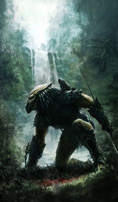 The Predator tracking his prey.