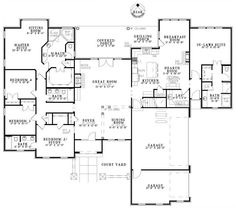 images about House plans on Pinterest   Floor Plans  House    Love this house  all on one floor and an In Law Suite First Floor