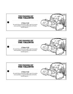 The Parable Of Talents Bible Bookmarks Filled With Important Life Lessons