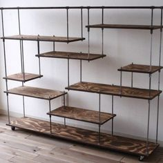 Spectacular DIY Farmhouse Shelves - Friseur Einrichtung - Shelves in Bedroom Pipe Furniture, Furniture Design, Furniture Ideas, Muebles Living, Diy Casa, Iron Shelf, Vintage Industrial Furniture, Industrial Pipe, Industrial Design