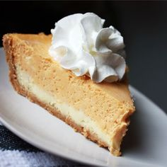 """Double Layer Pumpkin Cheesecake I """"WOW! this was DELICIOUS and incredibly easy to make. My family loved it and I will definitely be making this again!"""""""