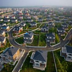 An article from NBC News discusses the real estate bubble that has formed in China after billion dollar cities have been built and become ghost towns,. Ghost City, Ghost Towns, Off Color Humor, Shenyang, Photos Of Eyes, Birds Eye View, White Boys, Aerial Photography, Abandoned Places