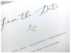 Geprägte Save-the-Date Karten Golden Leave von Carte Royale Save The Date Karten, Dates, Inspiration, Wedding Day, Biblical Inspiration, Inhalation, Motivation
