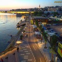 Sava promenada. Belgrado