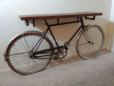 Bike Entry Table : 8 Steps (with Pictures) - Instructables Coaster Furniture, Table Furniture, Furniture Making, Painted Furniture, Entry Tables, Sofa Tables, Bike Decorations, Pallet Ideas Easy, Foyer Decorating